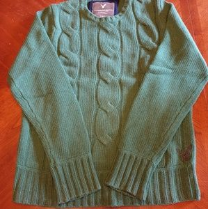 American Eagle Outfitters Wool Sweater Green XL
